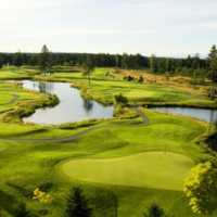 Aerial view from Crown Isle Golf Course