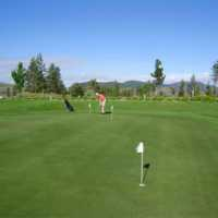A view of the practice putting green at Eaglepoint Golf Resort