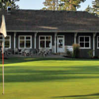 A view of the clubhouse at Comox Golf Club.