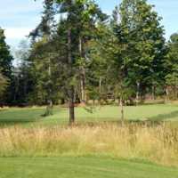 View of the 1st green at Quadra Island Golf Club