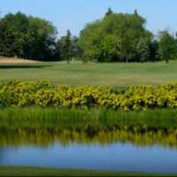 A view over the water from Leduc Golf and Country Club