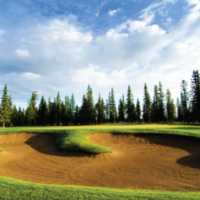 Coyote Nine's long par-4 seventh hole features a large fairway bunker located on the right. The bunkered green features lots of undulation, making putting on this hole a tough task.