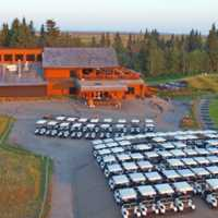 A view of the clubhouse at Wolf Creek Golf Course