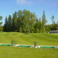 A view from the driving range tees at Drayton Valley Golf Club
