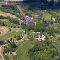 Aerial view from Barrhead Golf Club