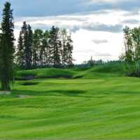 View of a green from Jack Pine Nine at Trestle Creek Golf Resort