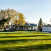 A view of the clubhouse at Quilchena on the Lake Golf Course