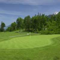 A view of the 5th green at Falls Golf and Country Club