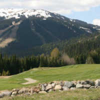 A view from the Sun Peaks Resort Golf Course