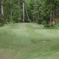 A view of a fairway at Rainbow's End Golf Course
