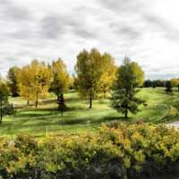 A fall view from River Bend Golf Course