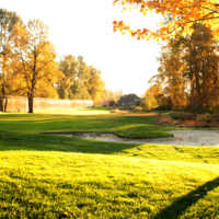 A fall view from Cove Links Golf Course