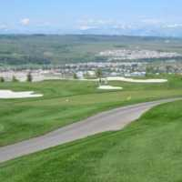 A view of a tee at Links of GlenEagles Golf Course