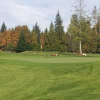 A fall view of a hole at Heather Hills Golf Course