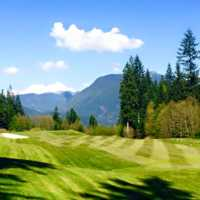 A sunny day view from Westwood Plateau Golf and Country Club