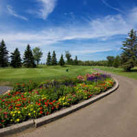 A view of a tee at Jagare Ridge Golf Club