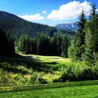 View from the par-3 5th at Fairmont Chateau Whistler GC