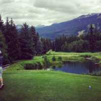 View from the 16th hole at Whistler Golf Club