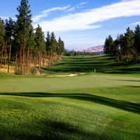 A view of the 18th hole at Bear from Okanagan Golf Club