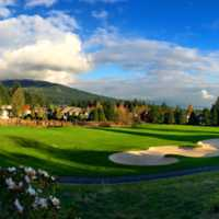 A fall day view from Westwood Plateau Golf and Country Club