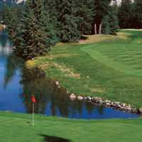 A view of hole #16 at Jasper Park Lodge Golf Course