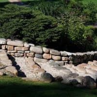 Kokanee Springs: the stairs from 17th teebox