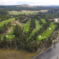 Bootleg Gap Golf - Aerial view of the back nine