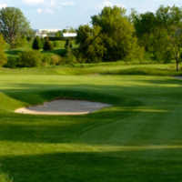 A sunny day view of a hole at St. Andrew's Valley Golf Club