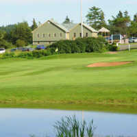 A view over a pond at Clyde River Golf Club