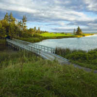 Bridge on the 7th hole at The Links at Crowbush Cove