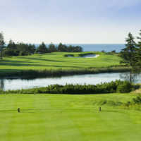 View from the 7th tee at The Links at Crowbush Cove