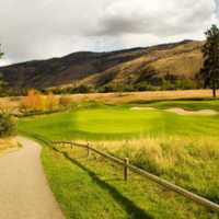 A view of the 15th green from Dunes at Kamloops Golf Club