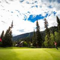 A view of a hole at Sun Peaks Resort Golf Course