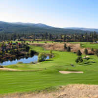 A sunny day view from Pinnacle 9 at Gallagher's Canyon Golf and Country Club