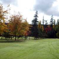 A fall day view of a fairway at Ardmore Golf Course