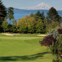 A view of a green at Cordova Bay Golf Course