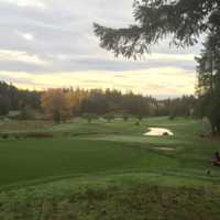 A fall day view from Olympic View Golf Club