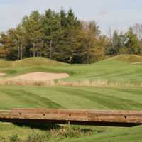 A view of green #11 at Heathlands from Osprey Valley Golf Club