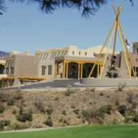 A view of the clubhouse at NkMip Canyon Desert Golf Course