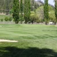 A view of the 3rd green at Summerland Golf Club