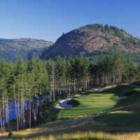 A view of the 16th hole at Mountain Course from Bear Mountain Golf and Country Club