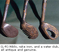 Niblic, Rake iron and a Water club