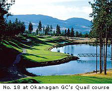 No. 18 at Okanagan GC's Quail Course